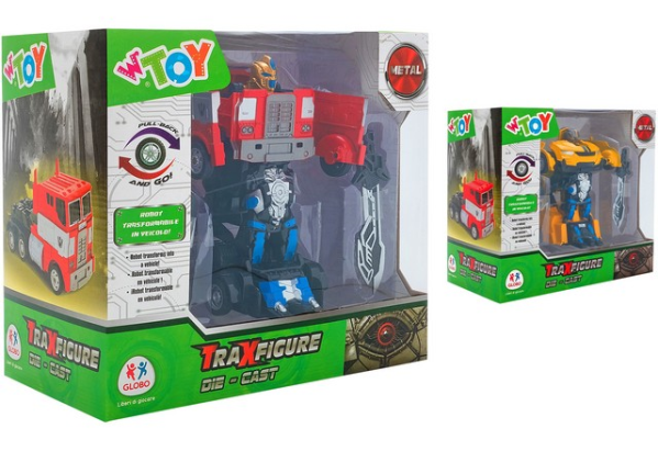 TRAXFIGURE ROBOT> AUTO/CAMION DIE CAST RETROC 2 AS