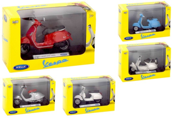 VESPA DI CAST 1:18 5ASS 24PZ D/BOX